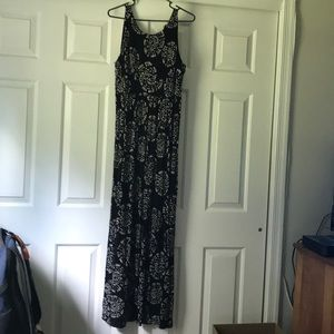 Black LOFT maxi dress
